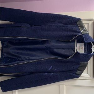 Navy blue pea coat jacket